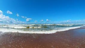 Baltic Sea 2. Beautiful Wavy Baltic Sea Coastline,Karkle, Lithuania Stock Photo