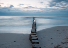 Baltic sea. Breakwater on the baltic sea Stock Photos