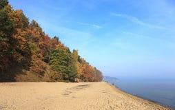 Baltic sea. In autumn colors, Sopot, Poland Royalty Free Stock Photo