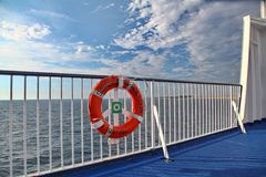 Baltic sea. From ferry (Denmark royalty free stock photo