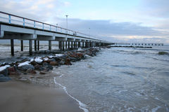 Baltic sea. In winter. Palanga, Lithuania Royalty Free Stock Image