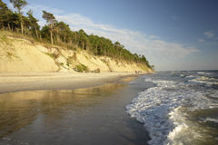 The Baltic Sea. Seaside in Lithuania, Klaipeda, Karkle Royalty Free Stock Photo