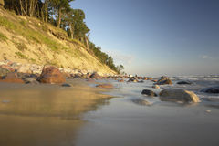 The Baltic Sea. Seaside in Lithuania, , Klaipeda, Karkle Royalty Free Stock Image