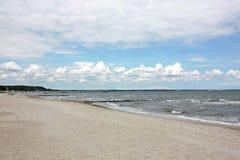 Baltic sea. Beautiful beach in timmendorfer strand, baltic sea Stock Photography