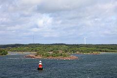Baltic sea archipelago. Baltic sea archipelago landscape in Sweden, Europe Royalty Free Stock Images