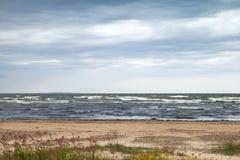 Baltic Sea in autumn. Coastal landscape Royalty Free Stock Image