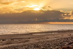 Baltic sea background evening Stock Photography
