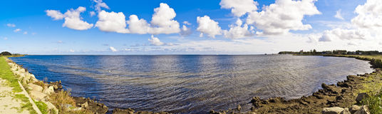 Baltic Sea Bay Panorama - Puck in Poland Royalty Free Stock Images