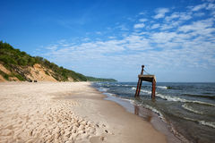 Baltic Sea Beach and Coast in Poland Stock Photo