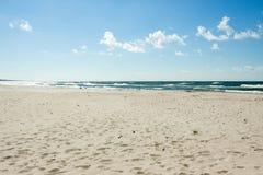 Baltic sea beach in full sun Stock Photos