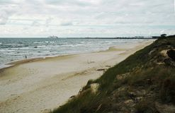 Baltic sea beach in Klaipeda. Lithuania stock images