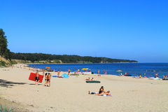 The Baltic Sea. Beach at Kulikovo, Kaliningrad region. KULIKOVO, RUSSIA — JULY 19, 2014: Baltic sea beach in Kulikovo, Kaliningrad region Royalty Free Stock Photography