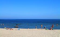 Baltic sea beach in Kulikovo. KULIKOVO, RUSSIA — JULY 19, 2014: Baltic sea beach in Kulikovo, Kaliningrad region Stock Image