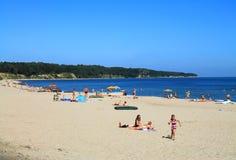 Baltic sea beach in Kulikovo. KULIKOVO, RUSSIA — JULY 19, 2014: Baltic sea beach in Kulikovo, Kaliningrad region Stock Photos