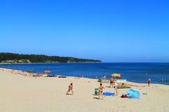 Baltic sea beach in Kulikovo. KULIKOVO, RUSSIA — JULY 19, 2014: Baltic sea beach in Kulikovo, Kaliningrad region Royalty Free Stock Photo