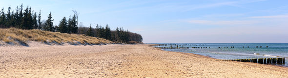 Baltic sea beach panorama Stock Photography