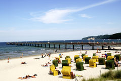 Baltic Sea beach on the Ruegen in Germany Stock Image