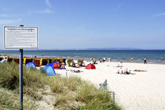 Baltic Sea beach on the Ruegen in Germany Royalty Free Stock Image