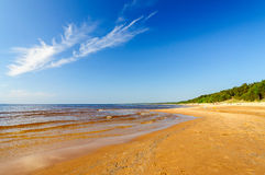 Baltic sea beach in Saulkrasti Stock Images