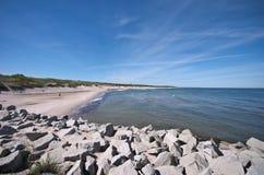 Baltic sea beach scene. South coast Baltic sea beach scene stock photo