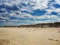 Baltic Sea beach in Poland. Baltic Sea beach in Slowinski National Park near Leba city, Poland royalty free stock photos