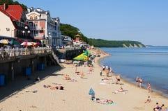 Baltic sea beach. Svetlogorsk Stock Images