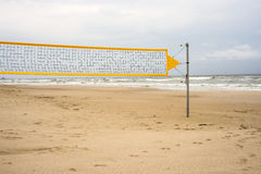 Baltic sea, Beach-Volleyball field Stock Images