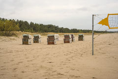 Baltic sea, Beach-Volleyball field Stock Photography