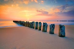 Baltic sea at beautiful landscape Royalty Free Stock Photography
