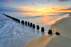 Baltic sea at beautiful landscape Stock Photography