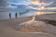 Baltic sea at beautiful landscape - long exposure time Royalty Free Stock Photos