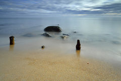 Baltic sea at beautiful landscape - long exposure time Royalty Free Stock Photography