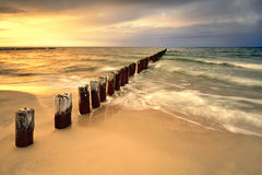 Baltic sea at beautiful landscape Royalty Free Stock Photo