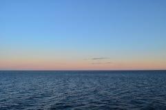 Baltic sea. Beautiful sunset on Baltic sea Stock Photo