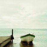 Baltic Sea and boat landscape Stock Images