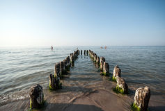 Baltic Sea and breakwater Royalty Free Stock Photos