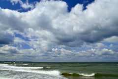 Baltic sea and clouds Stock Images