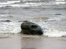Baltic sea coast and beautiful  stone , Lithuania Stock Images