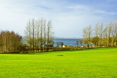 Baltic sea coast of Denmark. On a sunny day of spring Royalty Free Stock Photography