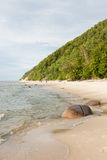 Baltic sea coast. In the early spring royalty free stock image