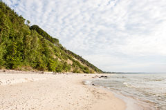Baltic sea coast. In the early spring stock image