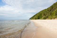 Baltic sea coast. In the early spring stock photography