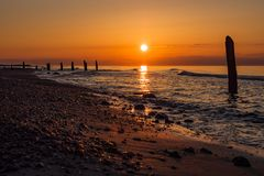 Baltic Sea coast in the evening in Kuehlungsborn Royalty Free Stock Images