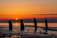 Baltic Sea coast in the evening in Kuehlungsborn Stock Photo