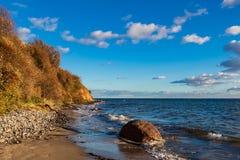 Baltic Sea Coast In Klintholm Havn In Denmark Royalty Free Stock Images