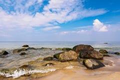 Baltic Sea coast on the island Ruegen, Germany Royalty Free Stock Images
