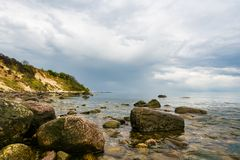 Baltic Sea coast on the island Ruegen, Germany Stock Photo
