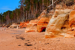Baltic Sea coast. Kurmrags Royalty Free Stock Photography