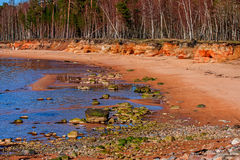 Baltic Sea coast. Kurmrags Royalty Free Stock Photo