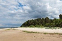 Baltic sea coast in Latvia. Royalty Free Stock Photos